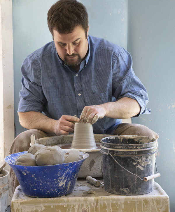 Mike Chatterley at Pottery Wheel